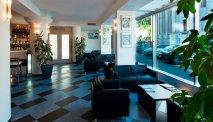 De lounge van Hotel La Spezia