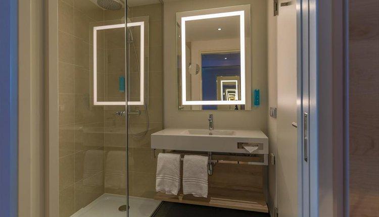 Het is smullen bij Hotel Roomz Vienna Prater - 2-persoonskamer, badkamer