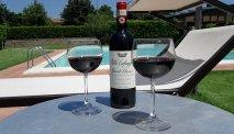 Op het ruime terras genieten van een heerlijke fles wijn