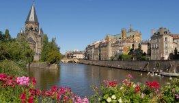 De oevers van de Moezel in Metz