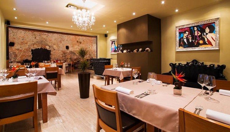 Het restaurant van Hotel Evropa