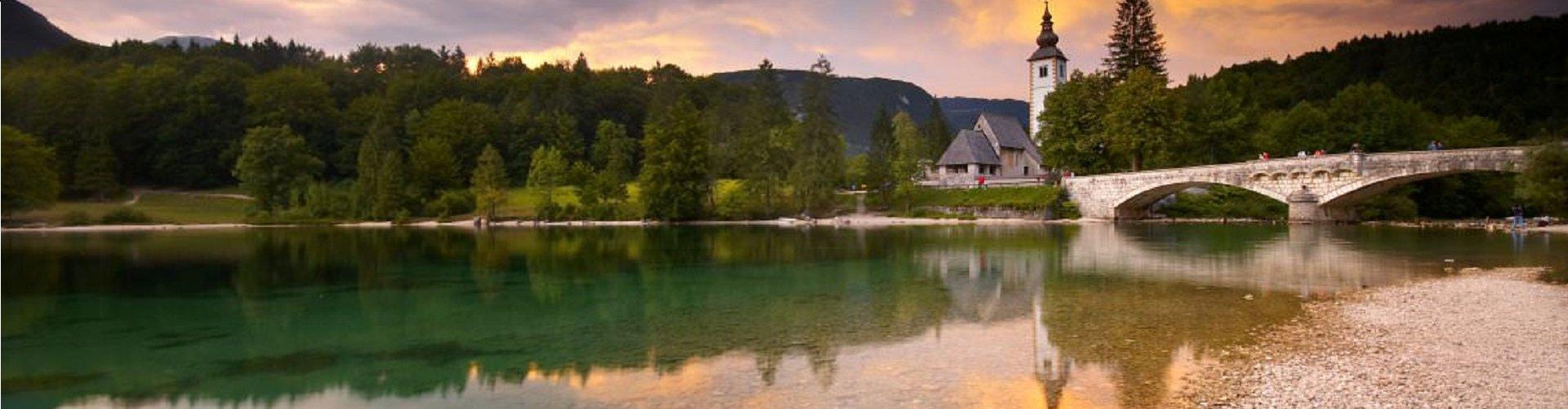 Banner foto het meer van Bohinj