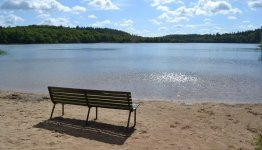 Het Almindso meer in de gemeente Silkeborg