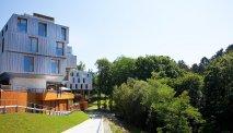 Ecovriendelijk hotel aan het bos grenzend