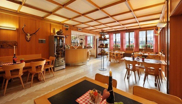 Het restaurant in het Gasthaus
