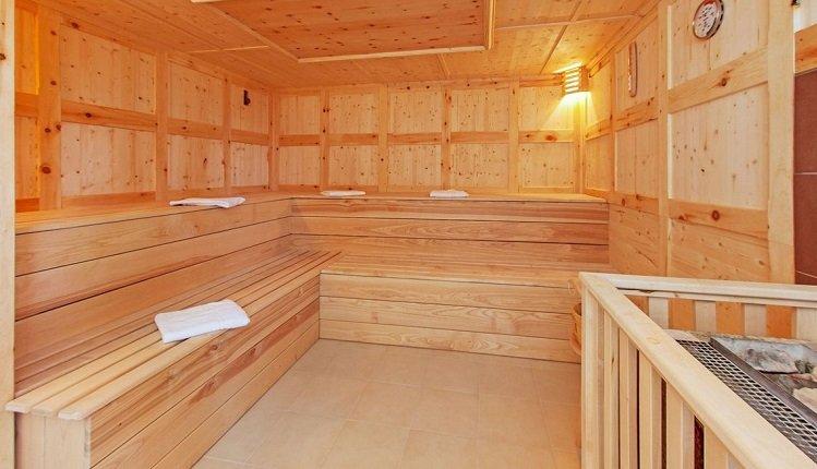Een heerlijke sauna om te ontspannen