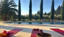 Het zwembad van Domaine des Clos