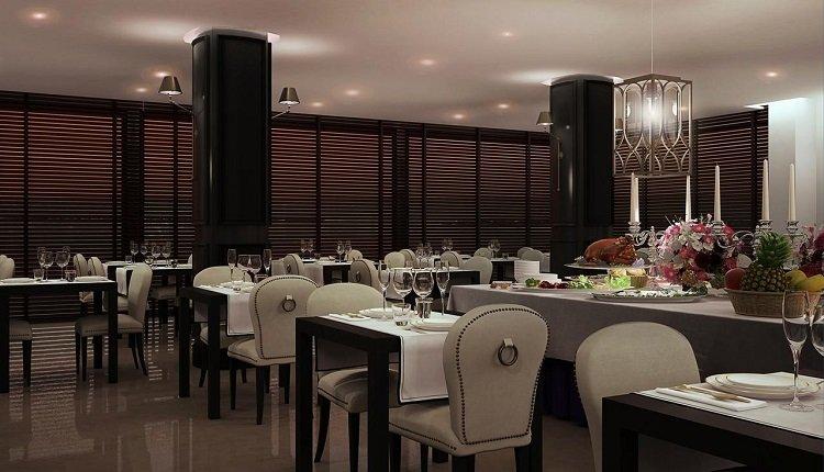 Het sfeervolle panoramische restaurant