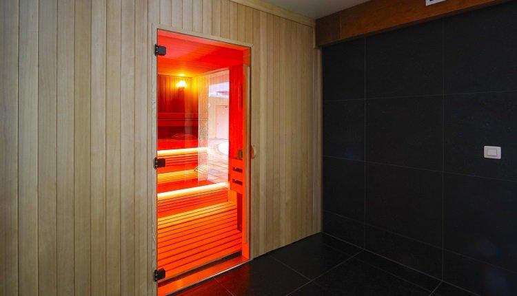 De sauna bij het hotel