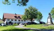 De ligging van Landhotel Kirchberger