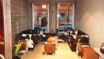 Gezellig zitten in de lobby van Hotel Hezelhof