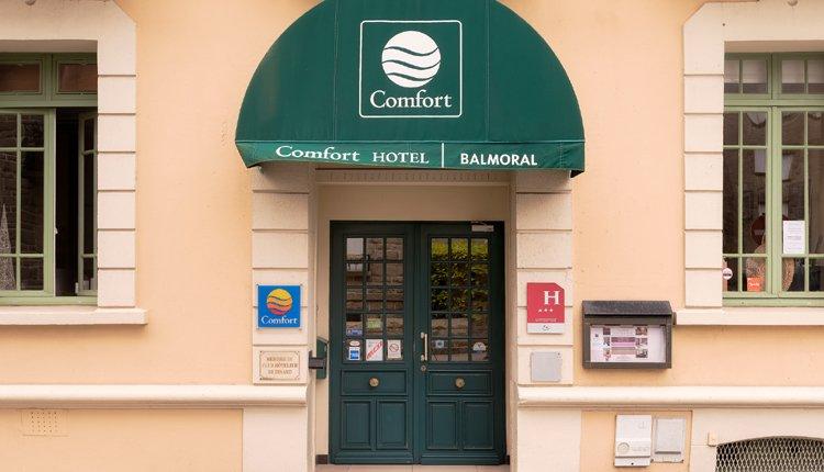 De entree van Hotel Balmoral